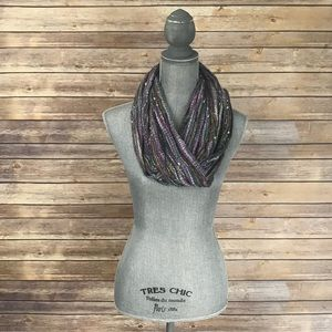 Multi Colored Scarf / Wrap with Fringes